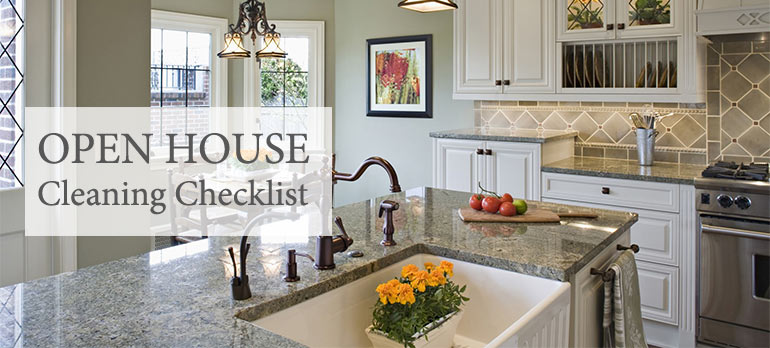 opne house cleaning checklist